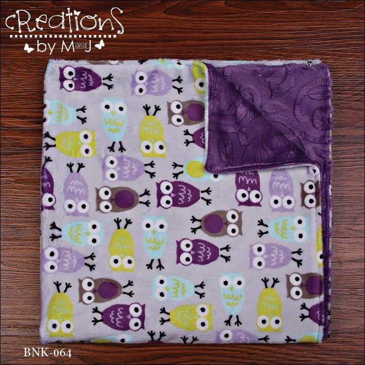 Excited to share the latest addition to my #etsy shop: Owl baby blanket, car seat blanket, stroller blanket, adult throw, minky http://etsy.me/2iyxngT #housewares #bedroom #bedding #purple #minky #yes #toddler #blue #birthday