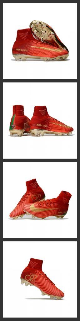 Nuove Scarpa da calcio Nike Mercurial Superfly V FG Rosso Oro - assicura la massima stabilità e un tocco di palla eccezionale. I tacchetti sono espressamente progettati per una trazione superiore sui campi in erba corta.