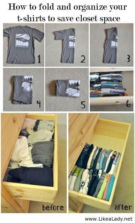 Organize your t-shirts! - LikeaLady.net