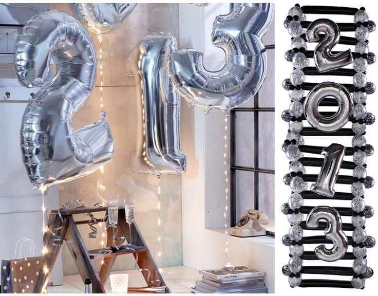 40 дюймов серебро цифровой алюминий 0 9 большие воздушные шары ну вечеринку украшения свадьба с днем рождения украшение купить на AliExpress