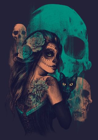 Poster caveira mexicana