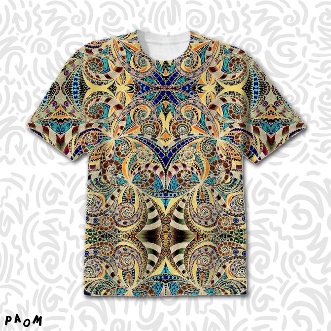 SOLD T-SHIRT DRAWING FLORAL ZENTANGLE G2! https://paom.com/products/0000000p-t-shirt-drawing-floral-zentangle-g2 #Paom #AllOverPrint #tshirt #clothing #drawing #zentangle #ethnic #tribal