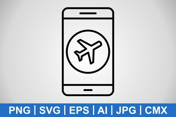Vector Airplane Mode Mobile Application Icon 980605 Icons Design Bundles Application Icon Mobile Application Icon