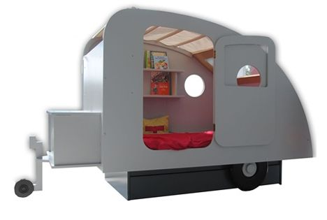 Teardrop camper bed in real life i cant imagine really buying this