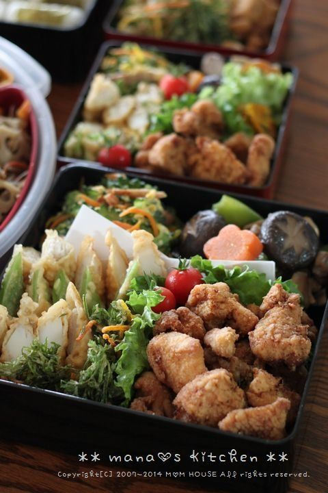 日本人のごはん/お弁当 Japanese meals/Bento 行楽弁当 Fried Chicken Bento for Family Gathering | Okinawa, Japan