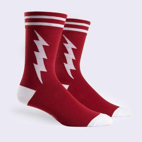 Sock It To Me - Super Hero Socks (Mens - Crimson) – GiantRobotStore