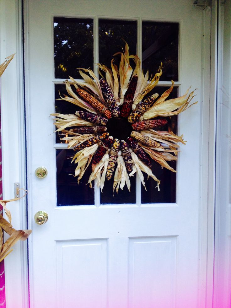 Indian Corn Wreath I Made