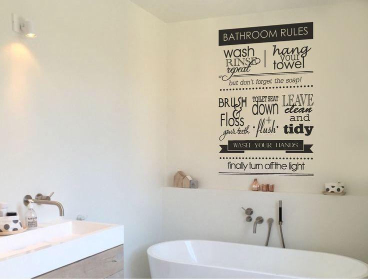 Bathroom rules wall decal | Bathroom wall decor - Aspect Wall Art