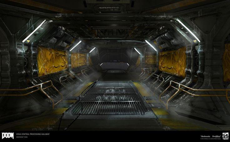 ArtStation - DOOM - Vega Central Processing Hallway, Emerson Tung