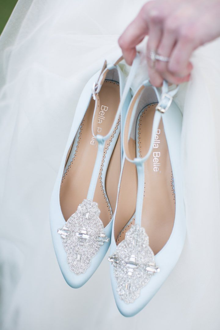 featured photographer: Archetype Studio; light blue wedding shoes idea