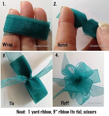 quick and easy DIY tutorial on how to tie a ribbon bow.