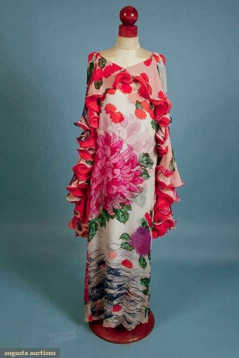 Augusta Auctions, November 2009 Museum Fashion & Textile Sale, Lot 151: Hanae Mori Summer Gown, 1970s