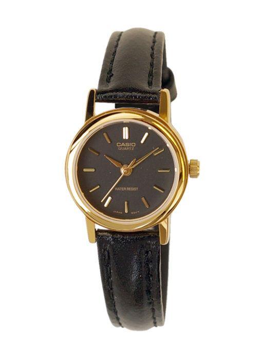CASIOSTANDARDANALOGUELADYSカシオスタンダードアナログレディースLTP-1095Q-1A腕時計時計チープカシオチプカシゴールド金ブラック黒レザー革ベルトLTP-1095Q-1A日本未発売