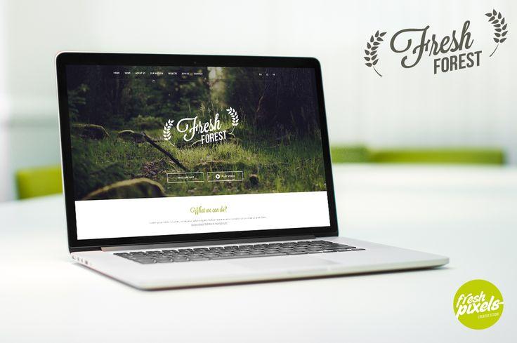 FreshForest by FreshPixels.pl Buy now: https://creativemarket.com/freshpixelspl/69979-FreshForest-OnePage-PSD-Template