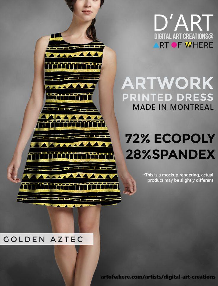 Artists cocktail dress