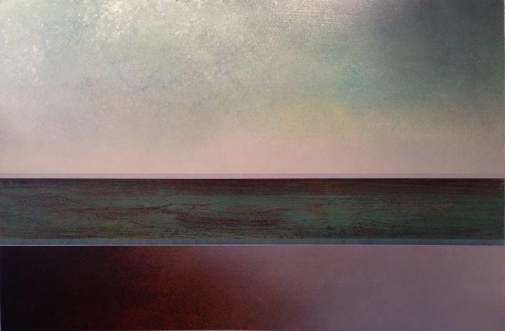 Richard Adams - Crack of Dawn - mixed media on canvas