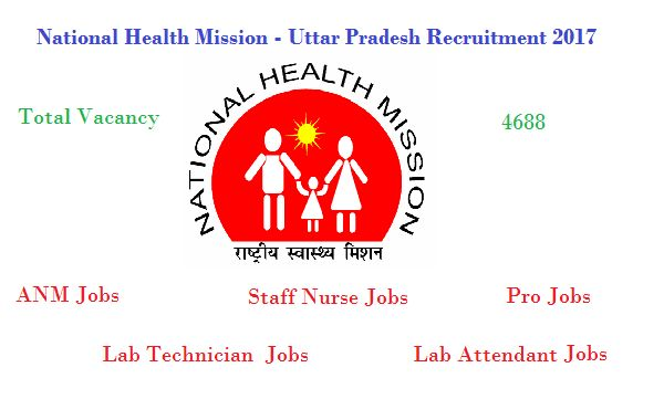 4688 NHM Jobs In UP For ANM Staff Nurse Lab Technician And Others Posts
