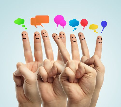 Have a look at social media fingers..  let's finger do the talk...
