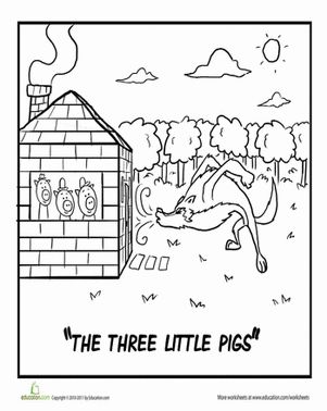 three little pigs coloring pages disney - 17 best images about three little pigs on pinterest