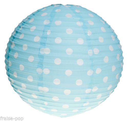 suspension boule japonaise a pois bleu ciel lampe lampion papier japonais lustre pastel kid 39 s. Black Bedroom Furniture Sets. Home Design Ideas