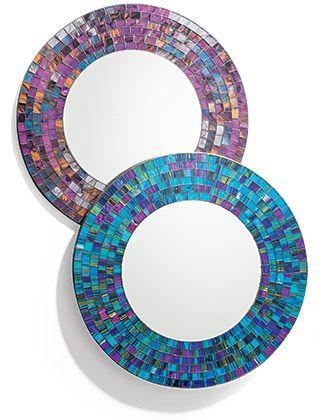 Round mosaic mirror ... Handmade in Bali £28 xx