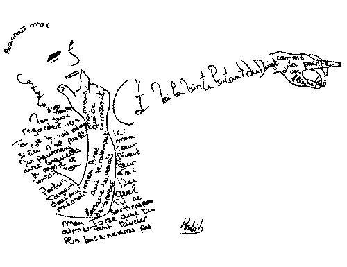 Guillaume apollinaire 1918 graphic poeme il pleure for Coeur couronne et miroir apollinaire