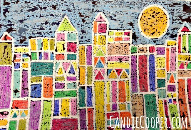 Paul Klee Kids Art Project via CandieCooper.com