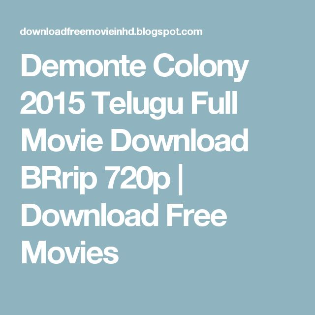 Demonte Colony 2015 Telugu Full Movie Download BRrip 720p | Download Free Movies