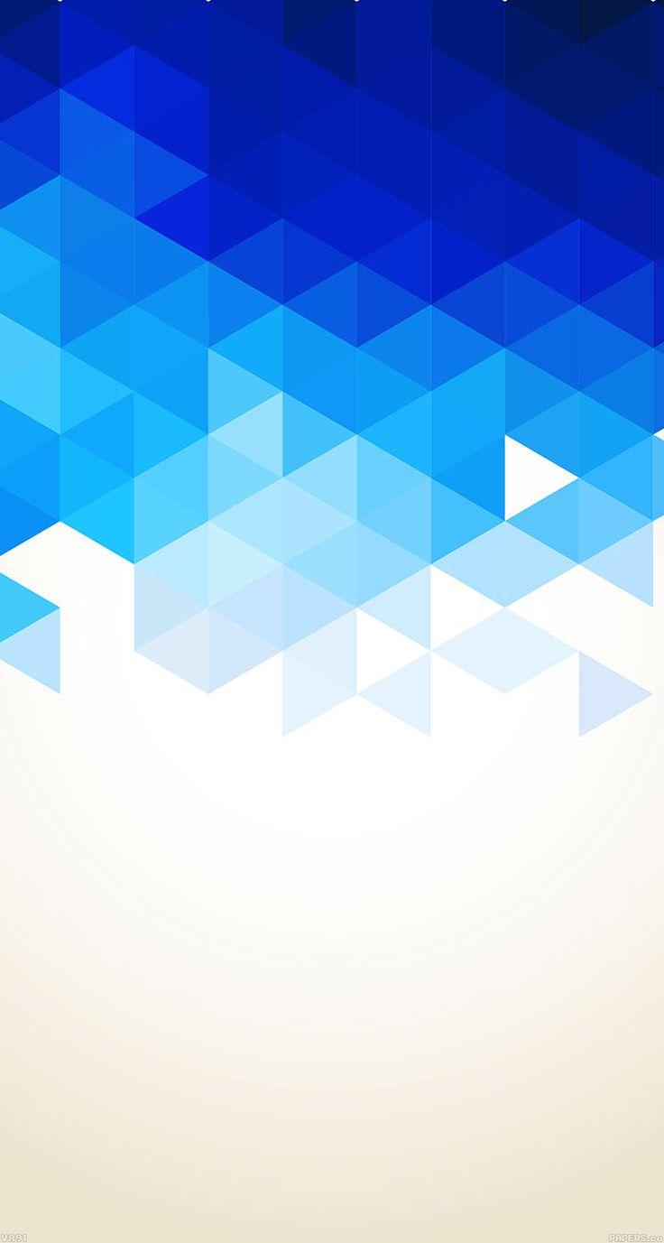Triangle Fall Blue Pattern