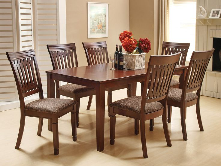 GILMER DINING SET - The more the merrier, with the sturdy and elegant Gilmer dining table with upholstered chairs; 6 Seater; PRICE: Rs. 56980/-; Buy now: http://tfrhome.com/landing/productlandingpage.php?product_code=ds-01