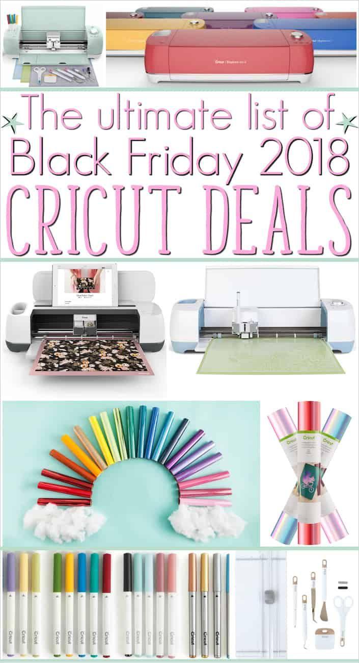 The Ultimate List Your Cricut Black Friday Deals 2018 Cheat Sheet Cricut Cricut Accessories Black Friday