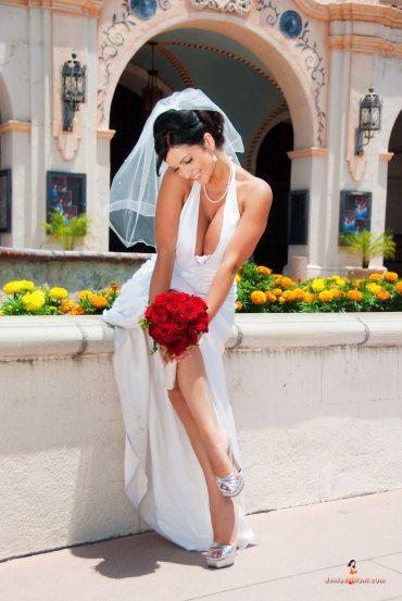 Wedding fashion courtesy of Denise Milani