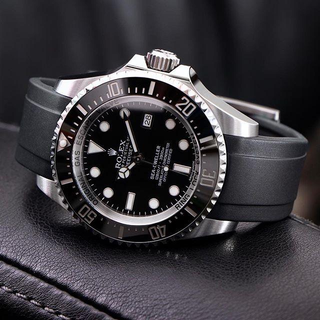 My Deep Sea on an @everestbands  .  .  .  .  .  #Rolex #dssd #116660 #116610 #wristporn #114060 #wristwatch #seadweller #watchaddict #watchoftheday #rolexdiver #divewatch #toolwatch #instawatch #watchcollector #watchshot  #deepsea #swissmade #dailywatch #watchfam #luxurywatch #dssdposse #rolexwatch #rolexaholics #submariner #101031 #watchesofinstagram #lovewatches #16660 #everestbands