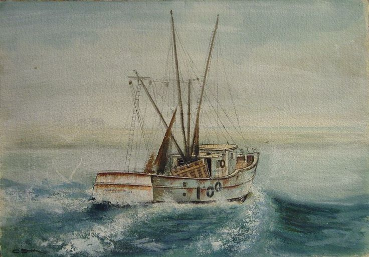 38 best images about boat pix on pinterest fish for Fishing boat painting