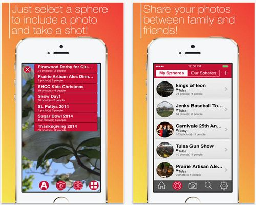 #Spheres, an #iOS #app brings a new way of sharing photos with your pals and family members. It's absolutely free and is now available at #Apple App Store.