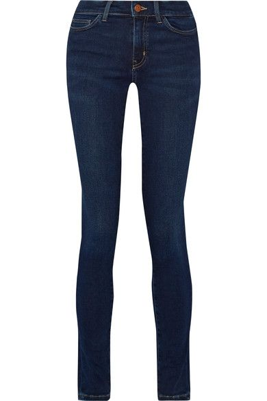 M.i.h Jeans - Bodycon Mid-rise Skinny Jeans - Dark denim - 27