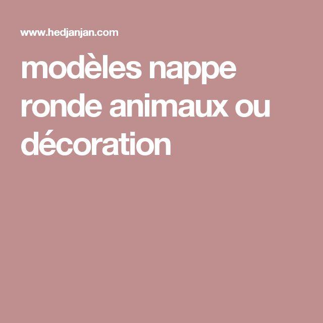 modèles nappe ronde animaux ou décoration