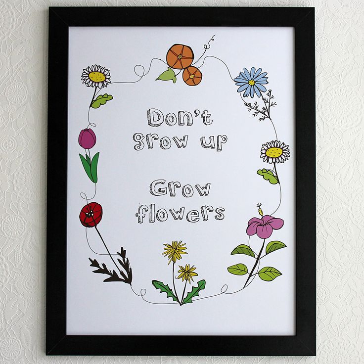 Fun poster for those who love plants and flowers!