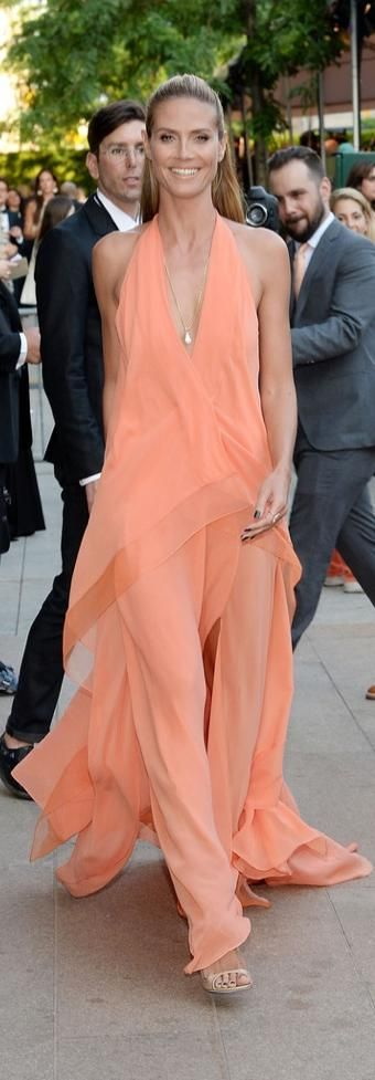 Heidi Klum  in Donna Karan | Via ~LadyLuxury~