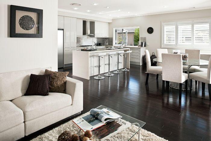 White Floorboards Kitchen