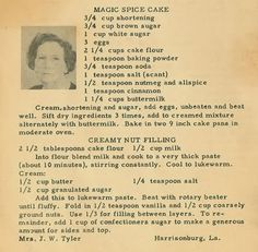 Roots From The Bayou: Family Recipe Friday ~ Magic Spice Cake