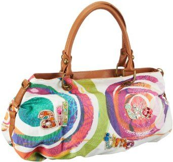 Desigual Handbags Bols Big Bag 31X5572 Satchel,Blanco,One Size,