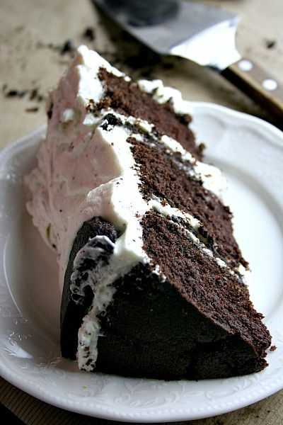 Stuffed Homemade Oreo Cake the frosting is amazing