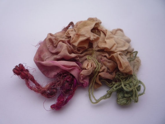 Christmas gift Brooch nuno felted abstract rose silk by roFelt, $14.99