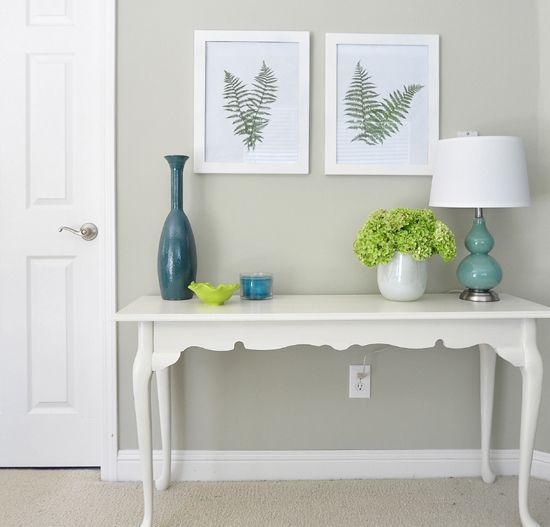 Ferns as Art-nice idea for a fresh room. Could stain old paper for the back or print botanical names on it. I like the idea for making oriental prints to spruce up the bedroom.