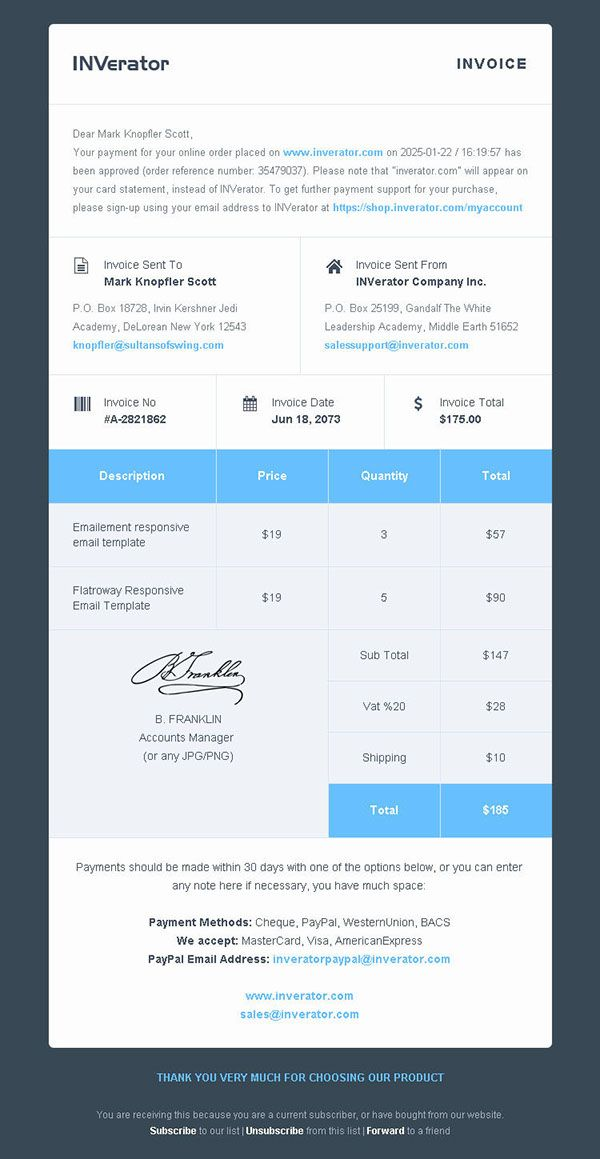 Invoice Template Payment Receipt For Email On Behance Invoice Template Invoice Design Receipt Template