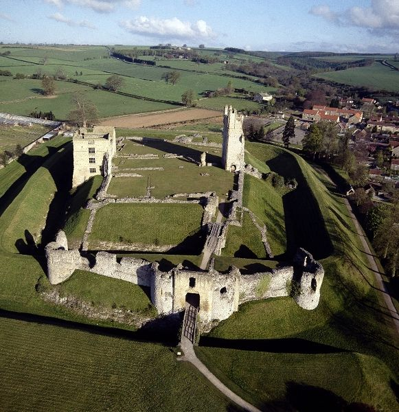 The 900 year old Helmsley Castle, Castlegate, Helmsley, North Yorkshire, England