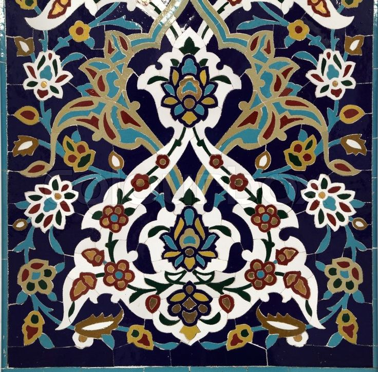 Stock image of 'Oriental mosaic in Grand Mosque, Muscat Oman'