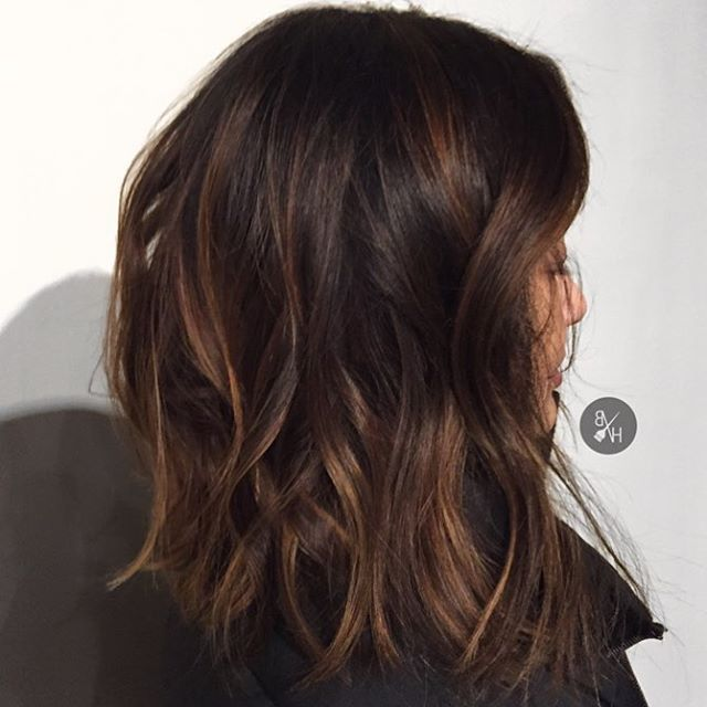 Dark Brown Hair With Natural Looking Highlights