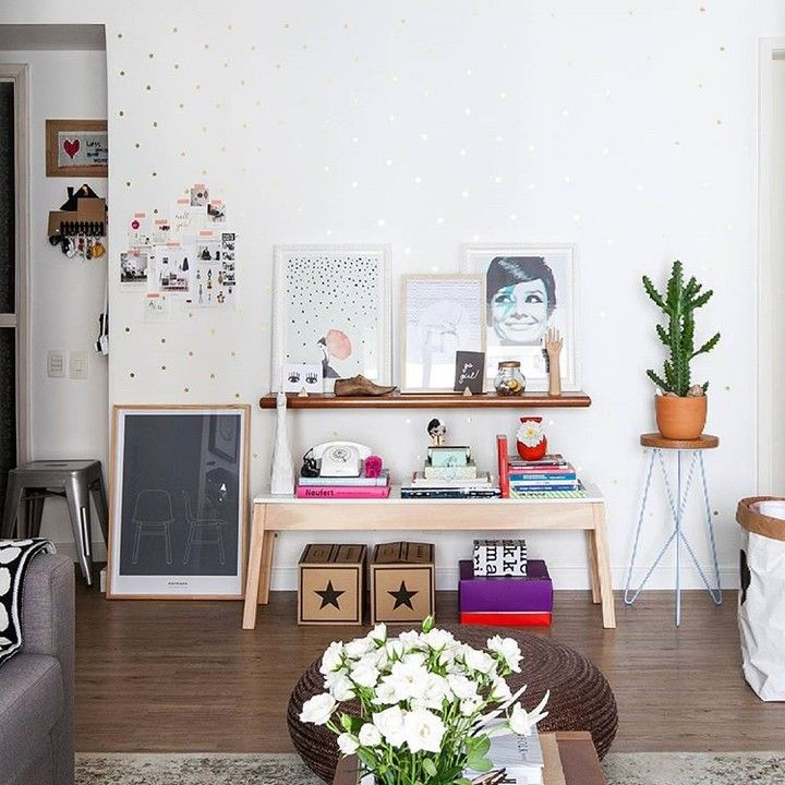 #wnętrza #salon #trendy #aranżacje #mieszkanie #meble #drewno #design #inspiracje #domiwnetrze  fot. Gisele Rampazzo